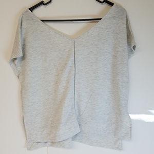 Victoria's Secret Light Heather White/Grey Shirt
